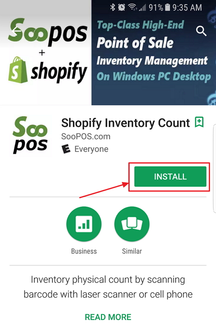 physical count android app installation soopos supportsoopos support